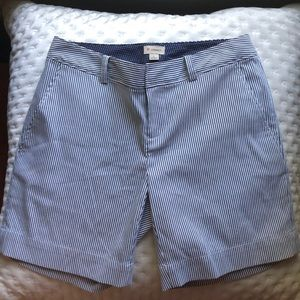 Cremieux blue and white striped classic shorts.